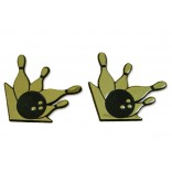 Black & Gold Bowling Magnets (Set of two)