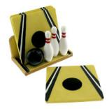 Bowling Ceramic Coaster Set