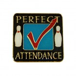 Perfect Attendance Bowling Lapel Pin