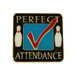Perfect Attendance Bowling Lapel Pin