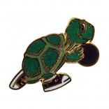 Bowling Turtle Lapel Pin