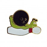 Bowling Snail Lapel Pin