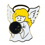 Bowling Angel Lapel Pin