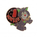 #1 Bowler Cat Lapel Pin