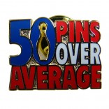 50 Pins Over Average Lapel Pin
