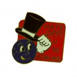 Hats Off Lapel Pin