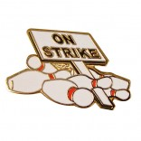 On Strike Lapel Pin