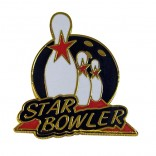 Star Bowler Lapel Pin