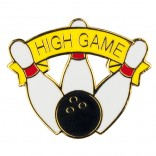 High Game Bowling Lapel Pin