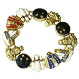 Stretch Charm Bracelet - goldtone