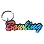 Rainbow Colored Bowling Keychain