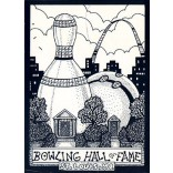 Bowling Hall of Fame Comic Postcard