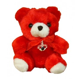 Red Bear with Bowling Charm