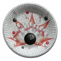 """Bowling Birthday Party Plates 9"""" - Set of 8"""