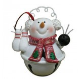 Jingle Bell Snowman Ornament
