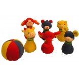 Plush Animals Bowling Set