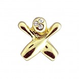 Crystal & Goldtone Lapel Pin