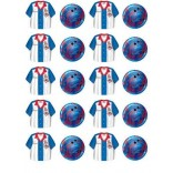 Bowling Shirt & Ball Stickers (4 sheets)
