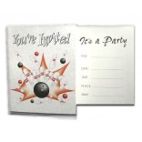 Bowling Party Invitations - Set of 8