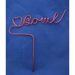 """I Heart Bowl"" Fun Straw - Single Piece"